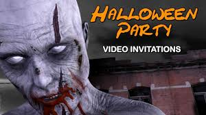 scary halloween party invitations amazing halloween party invitations talking zombie video