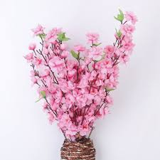 amazon com artificial spring peach blossom cherry plum bouquet