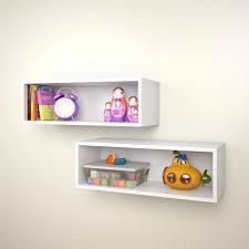 Modern Wall Storage Amazon Com Nexera Wall Shelves 223503 Set Of 2 White Home