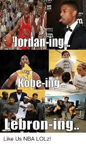 Kobe Lebron Jordan Meme - ara una bara onal jordan ing kobe lebron ing like us nba lolz