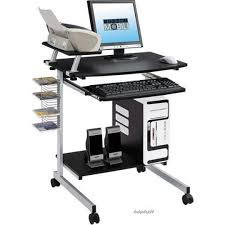 Mobile Computer Desk Mobile Computer Desk Portable Compact Laptop Rolling Cart