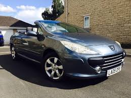 peugeot 307 cc 307cc s convertible facelift leather seats 50k low