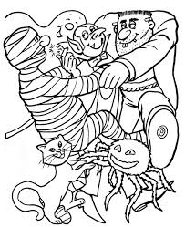halloween spooky cat coloring halloween coloring pages