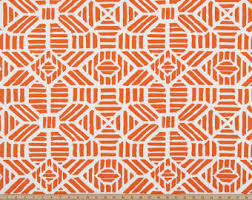 Orange And White Curtains Orange Curtains Etsy