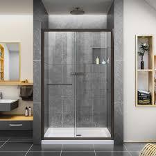 Single Frameless Shower Door Dreamline Infinity Z 48 X 72 Single Sliding Frameless Shower