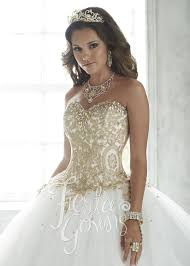gold quince dresses 56286 shining embroidered quinceanera gown