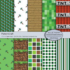 minecraft wrapping paper patterncraft minecraft inspired digital pattern paper instant