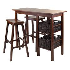 high table with stools winsome trading harrington 3 piece counter height dining table set