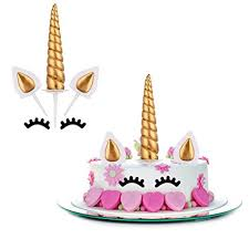 unicorn cake topper mtlee gold unicorn cake topper set include unicorn
