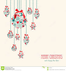 Elegant Christmas Wall Decorations by Merry Christmas Hanging Elements Decoration Compos Stock Image