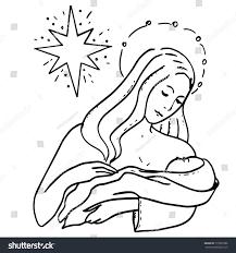 holy family christmas star theotokos infant stock vector 715895986