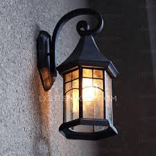 Ceramic Outdoor Wall Sconces House Shaped Metal Fixture Outdoor Wall Sconce Lights