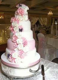 5 Tier Pink And White Wedding Cake Jenny U0027s Cake Blog U2013 Wedding