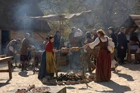 why did the pilgrims have the first thanksgiving 14 saints and strangers scenes that aim to tell the real