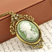 cameo gold necklace images Shuangr summer style jewelry vintage antique gold color queen jpg