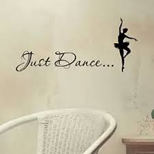 Just Home Decor by Aliexpress Com Buy Just Dance Elegant Ballet Dancer Vinyl Wall