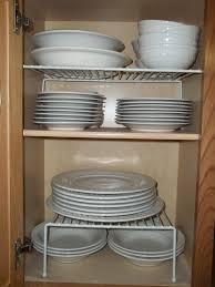 Kitchen Cabinets For Plates Thrifty Ways To Customize Your - Kitchen cabinet plate organizers