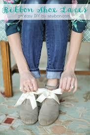 ribbon shoe laces diy ribbon shoe laces tutorial at sewbon sewbon
