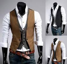 2018 2016 new slim fit suit vest fashion stitching casual