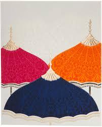 Royal Wedding Invitation Card Royal Wedding Invitation With Multi Color Umbrellas Wedding