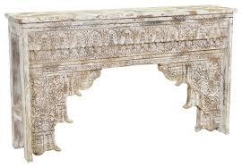 Wood Console Table Kosas Home Ariel Antique White Mango Wood Console Table