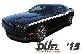 Dodge Challenger Turbo Kit - dodge challenger duel 15 upper door split strobe r t vinyl graphic