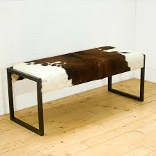 Cowhide Print Complete Your Safari Themed Home Decor With Animal Print Bench