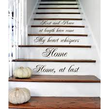 overstock com home decor stair quotes stairway quote rest and peace home family home decor