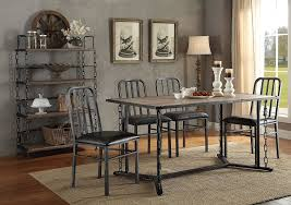 Rustic Wood Dining Room Tables by Dining Room Rustic Wood Dining Table With Grey Ceramic Floor And