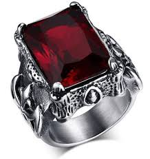 ring men retro ruby ring for men atperrys