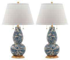 genevieve swirl table lamp set blue lighting under 250