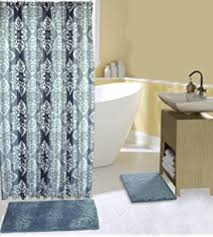 Bath Sets With Shower Curtains Amazon Com 18 Piece Embroidery Banded Shower Curtain Bath Set 1
