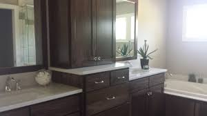 double vanity sink poplar wood sw black walnut stain granite