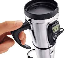 heated coffee mug premium heated travel mug sharper image