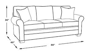 Standard Sofa Size by Brockett Brown Leather Sofa Classic Traditional