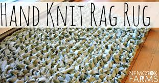 How To Rag Rug Hand Knit Rag Rug Nemcsok Farms
