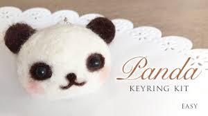 felt kits panda keyring kit needle felt tutorial with asmr
