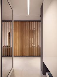 the custom room divider creates separation but the use of slats