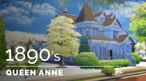 Queen Anne Victorian Sims 4 Decade Build Series 1890s Queen Anne Victorian Youtube