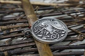 antique silver necklace pendant images 10pcs wholesale celt symbol animal unicorn pendant men necklace jpg