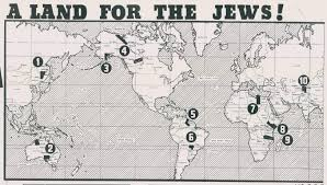 A New Map Of Jewish by 10 Jewish Homelands Outside Palestine Big Think
