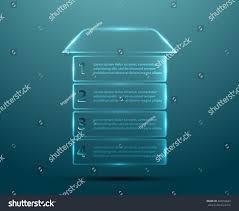vector transparent buttons shape house stock vector 460294669