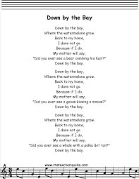 preschool thanksgiving song down by the bay printout circle time pinterest songs
