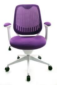 chaise de bureau violette de bureau vintage