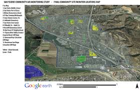 San Diego Map Neighborhoods by San Ysidro Air Monitoring Study