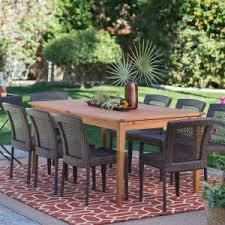 Wooden Patio Dining Set Wood Patio Dining Sets Hayneedle