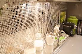 Metallic Tile Backsplash silver metallic tiles design ideas