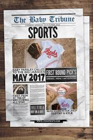 baby shower sports invitations newspaper pregnancy announcement birth announcement baby boy