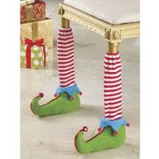 Dining Room Chair Leg Protectors How Stinkin U0027 Adorable Elf Table Leg Covers Red And White Striped