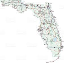 Gainesville Fl Map Florida State Interstate Map Stock Vector Art 93477945 Istock